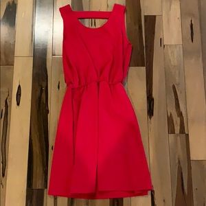 Pink Rose - red cinched dress
